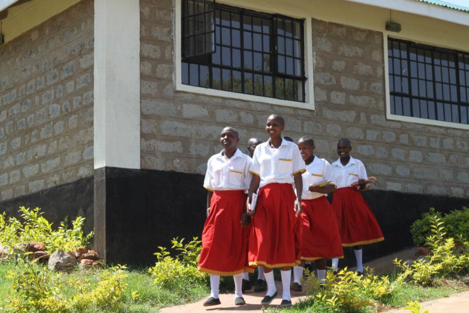 Kisaruni girls outside