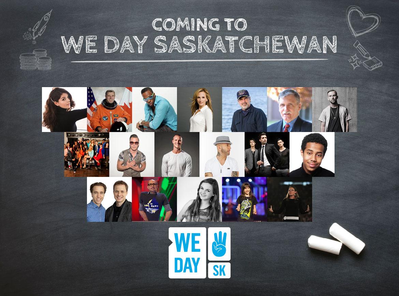 WE Day Saskatchwan talent announcement