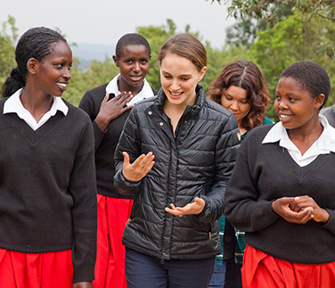 Natalie Portman in Kenya