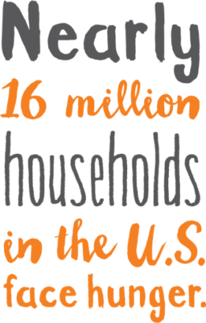 Nearly sixteen million households in the U.S. face hunger.