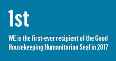 WE is the first ever recipient of the Good Housekeeping Humanitarian Seal in 2017