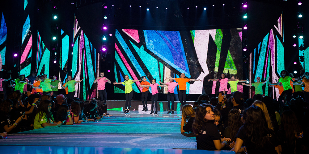 Crayon Kids on stage at WE Day