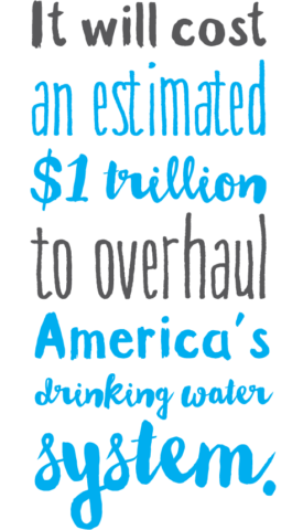 It will cost an estimated $1 trillion to overhaul America's drinking water system.