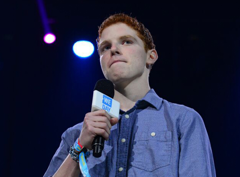Griffen on WE Day stage