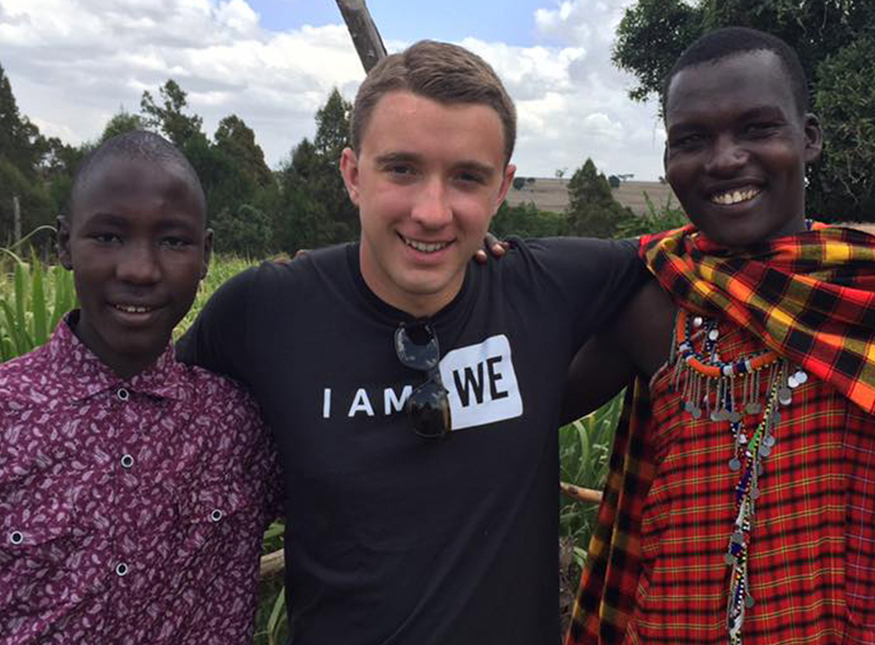 Mitch with Frances and Peter in Kenya