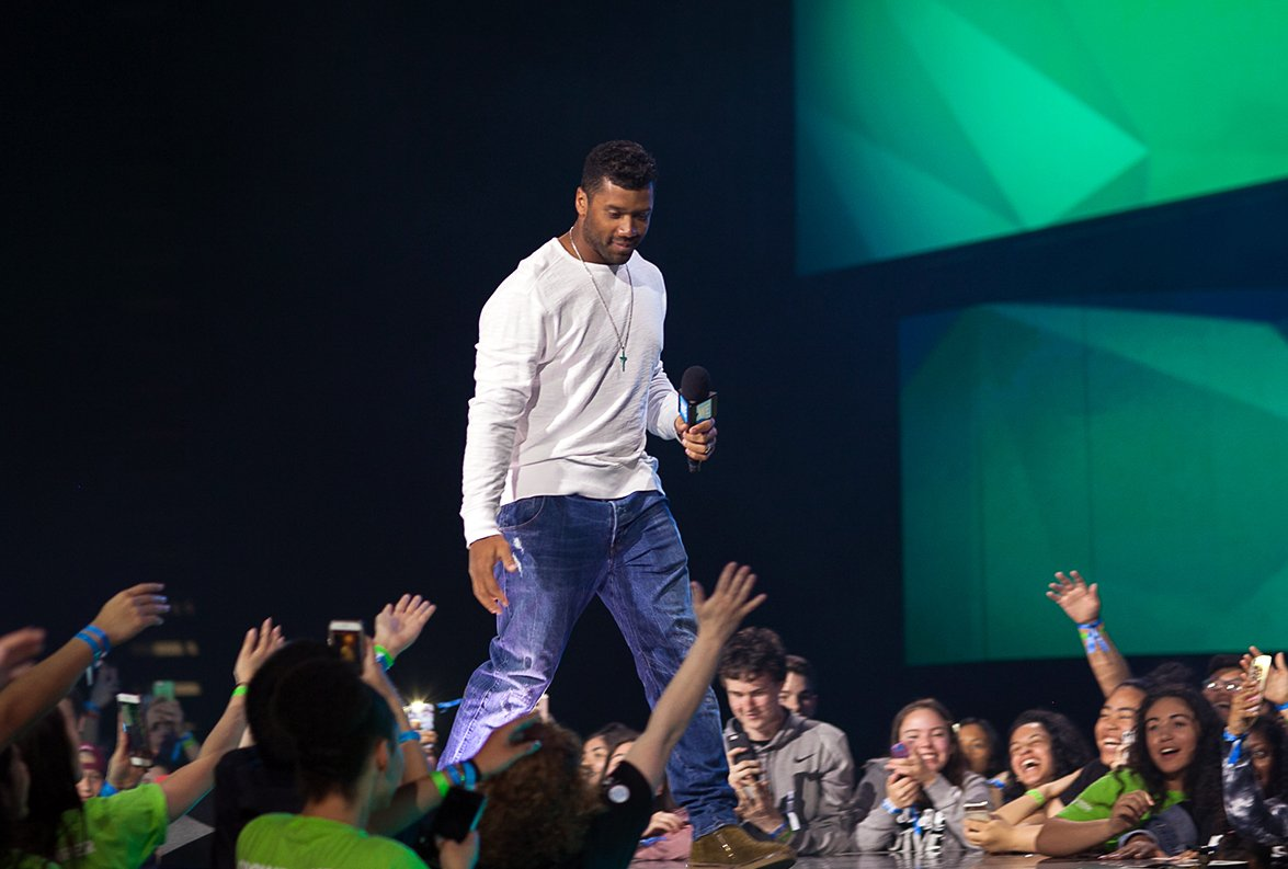 Russell Wilson at We Day Seattle 2017