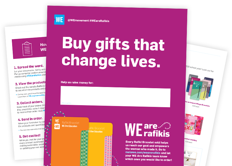 WE Are Rafikis Fundraising Resources