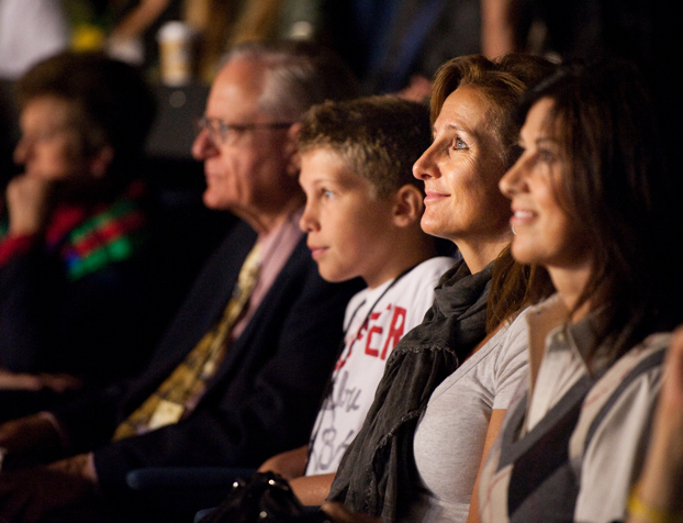 A family watching a WE Day Family event