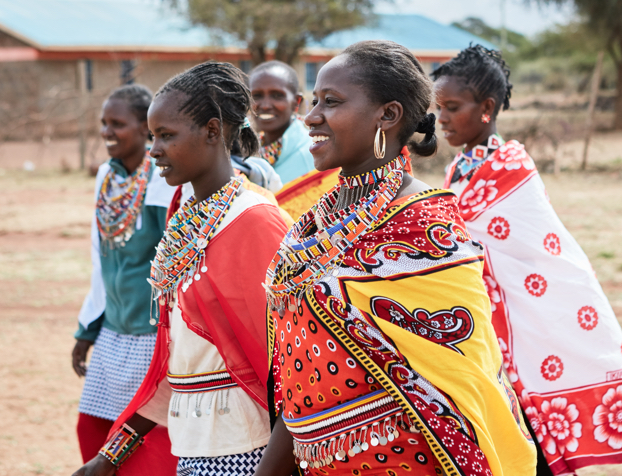 Ladies in traditional dress in Kenya