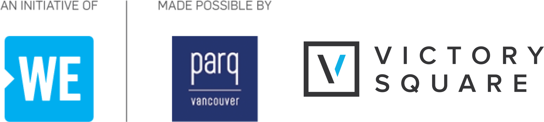 WE Care Vancouver is brought to you with the generous support of our co-title sponsors, Parq Vancouver and Victory Square
