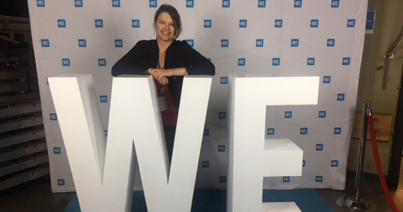 Shelley Page at WE Day