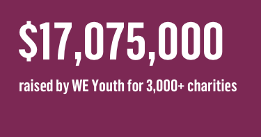 $17,075,000 raised by WE youth