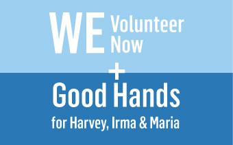 WE Volunteer now