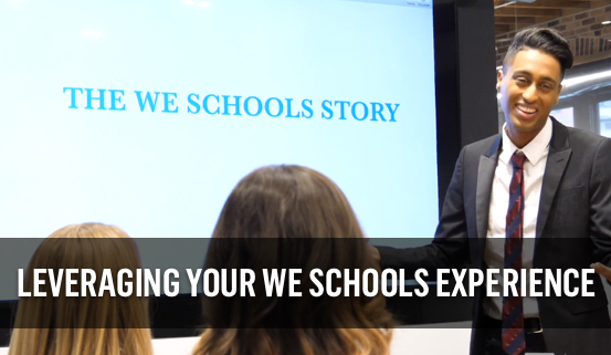 Play Leveraging your WE Schools experience video