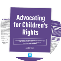 Example of the Advocating for Children's Rights classroom resource.