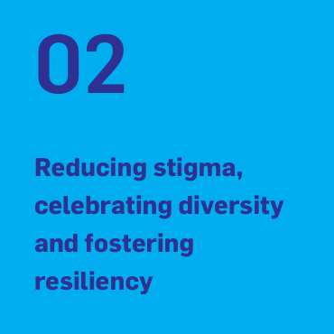 02 Reducing stigma, celebrating diversity and fostering resiliency