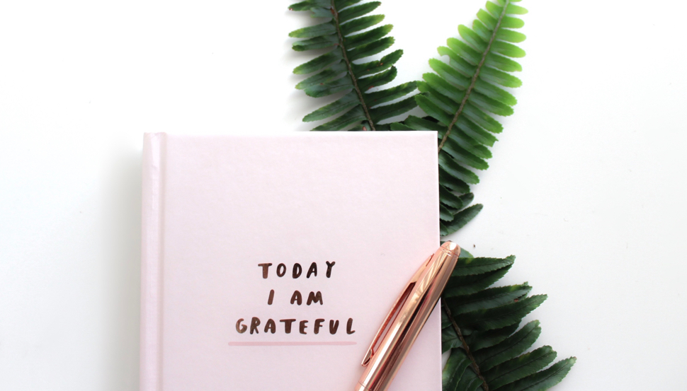'Today I am grateful' notebook