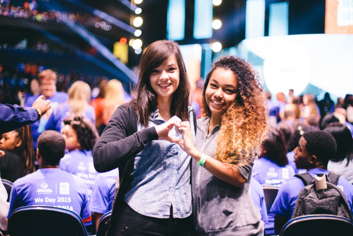 Two students at WE Day