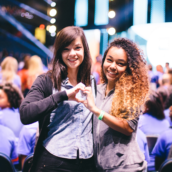 Two students at a WE Day