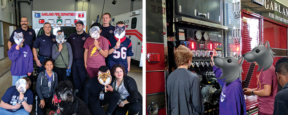 Pathfinder students visit the local fire station.