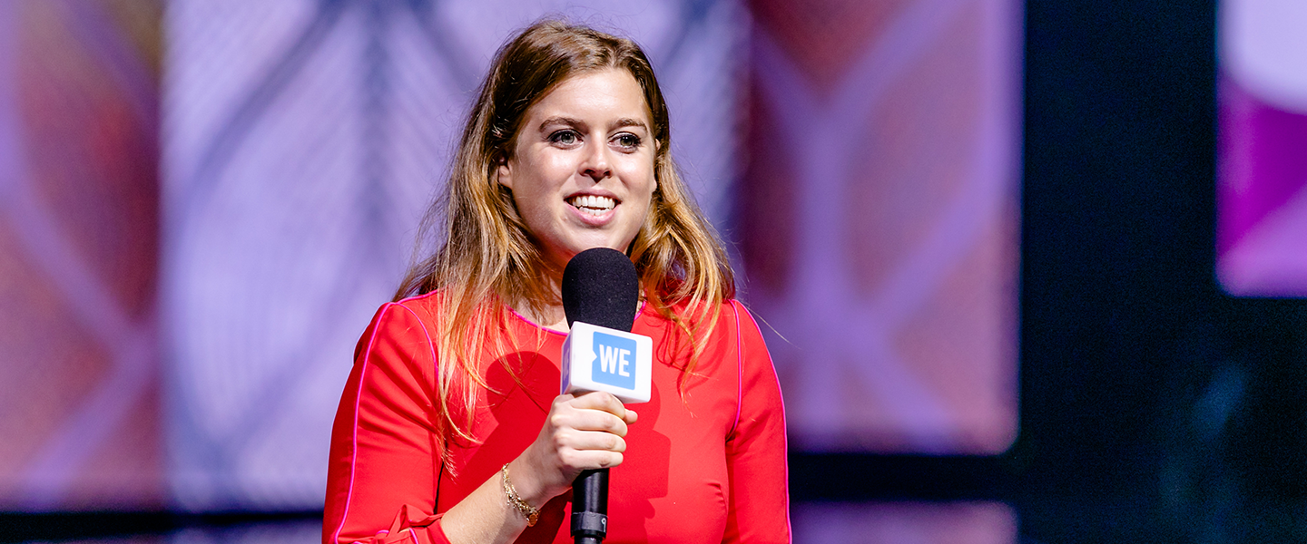HRH Princess Beatrice of York speaks to youth and educators at WE Day UN at the Barclays Center on September 20, 2018. Photo credit: Vito Amati
