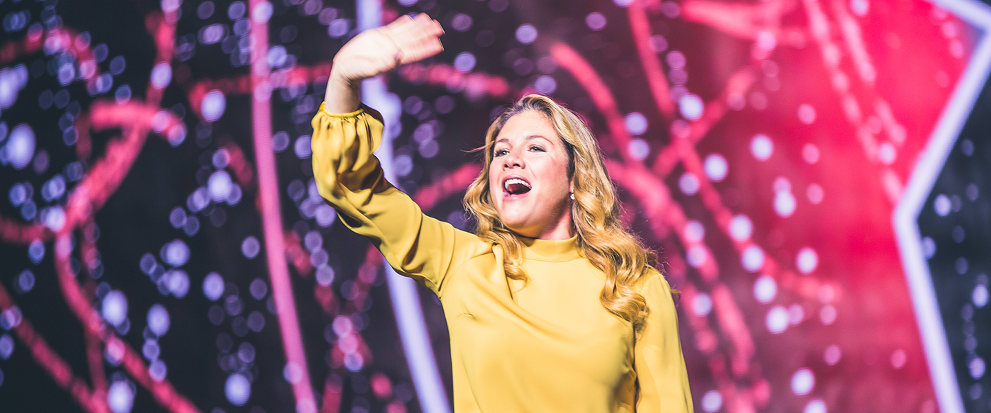 Madame Sophie Grégoire Trudeau inspires youth and educators at WE Day UN at the Barclays Center on September 20, 2018. Photo credit: Ryan Bolton