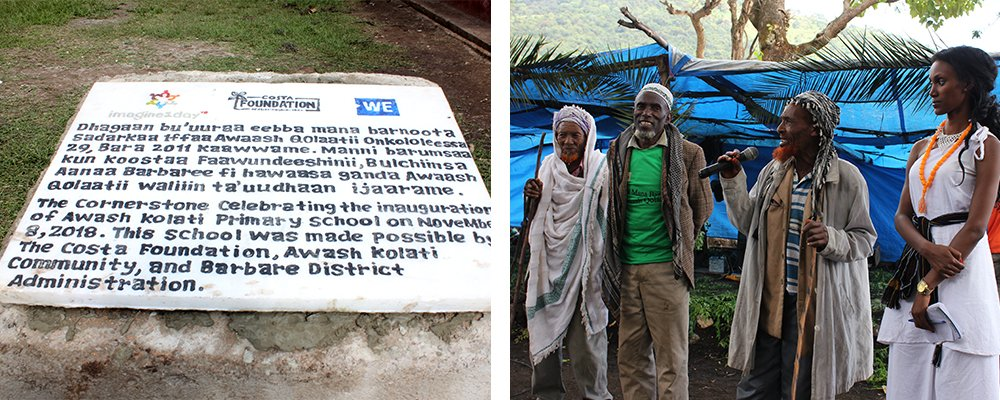 New plaque to commemorate new school in Ethiopia