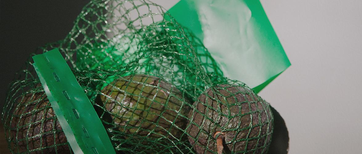 A bag of avocados.