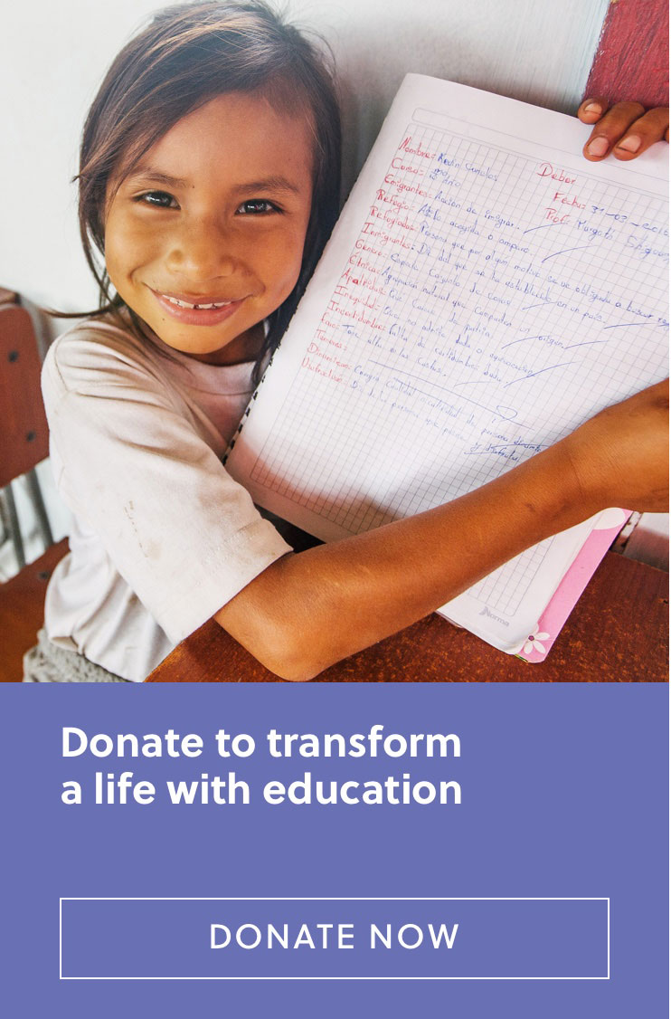 Donate to transform a life with education