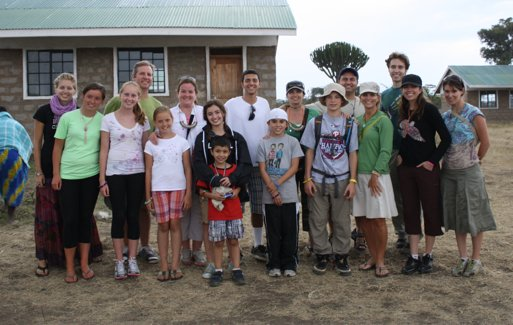 Advisory Board Member Andrew Black (fourth from left) on a ME to WE trip to Kenya.