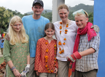 Advisory Board Member Bill Thomas and his family on a ME to WE trip to India.