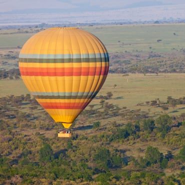 Hot air ballon safari