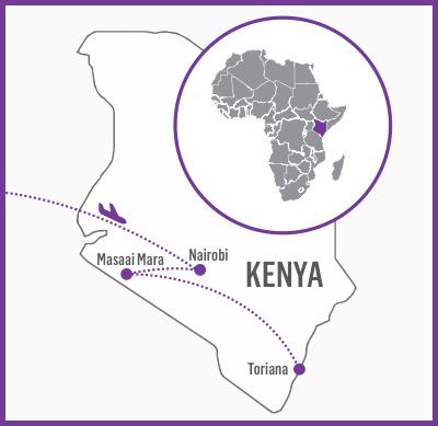Kenya Itinerary map