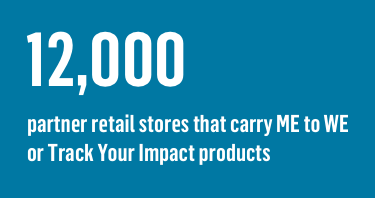 12,000 partner retail stores that carry ME to WE or Track Your Impact products