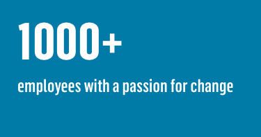 1000+ employees with a passion for change