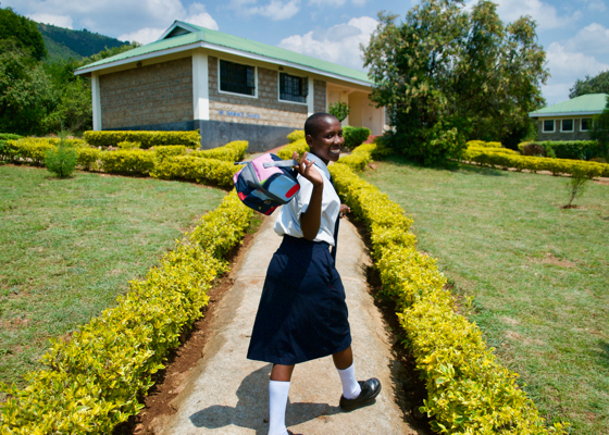 Girl in school uniform